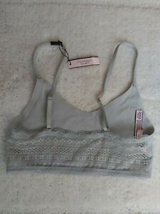 Victoria's Secret Womens/Juniors Lace Bralett Gray Size Small New With Tags!