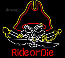 "New Ride Or Die Pirate Beer Lamp Light Neon Sign 24""x20"""