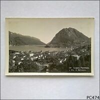 Lugano Panorama e Mte. S. Salvatore Postcard (P474)