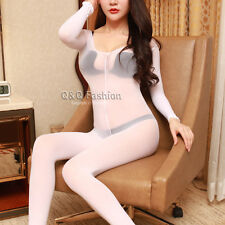 Fishnet Long Sleeve Sheer Teddy Leotard Catsuit Body Stocking Lingerie Nighties