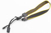 Original hama Trageriemen Carrying strap Tragegurt schwarz gelb