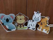 4 sagome animali giungla party festa compleanno sweet table comunione battesimo