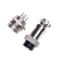 Enchufe aviación 2/3/4/5/6/7/8 Pin GX16-4 Conector de panel metal macho hem*ws