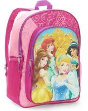 "Disney Princess 16"" Backpack Deluxe Glitter School Bag NEW"