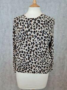 Ladies Autograph M&S Casmere Leopard Print Top Size 20 (EU 48)