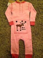 Lazy One Kids Children PJ Pajamas Sleepwear Toddler Give Me Space Alien Pink 234