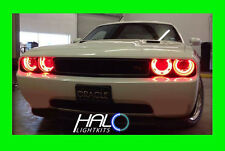 2008-2014 DODGE CHALLENGER RED PLASMA HALO HEADLIGHT RINGS KIT by ORACLE