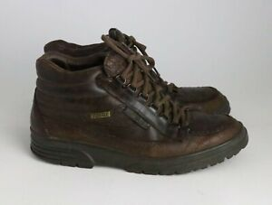 Mephisto Men's Brown Leather Goretex Lace Up Ankle Shoes Boots Size 9.5
