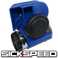 ONE BLUE NAUTILUS COMPACT HYBRID ELECTRIC/AIR HORN 139DB WITH RELAY FOR 12V P1