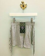 NWT  FLOWERS BY ZOE Sizes: 4-5-6  Girls Gray Knit Fringe Shorts