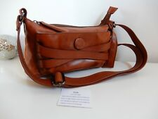 New PINK CORPORATION BAG Brown LEATHER BAG CROSS BODY SHOULDER LADIES HANDBAG