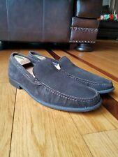 John Varvatos Men's Dark Brown Suede Slip On Loafer Shoes Size 12 Made In USA