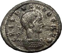 CRISPUS son of CONSTANTINE the GREAT 320AD Ancient Roman Coin Vexillum i54240