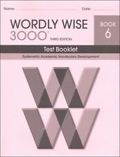 Wordly Wise 3000 Grade 6 Tests **3rd Edition**