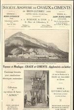 01 BEON-LUYRIEUX 21 SAINT-JEAN-DE-LOSNE STE DE CHAUX & CIMENTS 1922