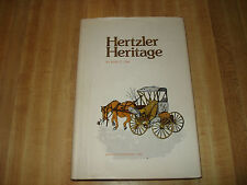 Awesome 1975 Signed 1st print book - Hertzler Heritage by Edith Coe