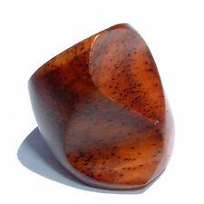 Design Ring Capri Holz Wood Natur Organischer Schmuck AR022
