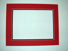 Picture Frame Double Mat 11x14 for 8.5 x11 photo Red with Black liner