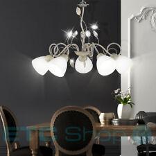 Design pendelluster Chambre à coucher verre feuilles plafonnier dielen
