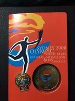 2000 Australian Medallion Pin Booklet Set Sydney Olympic Torch Relay (3233115C7)