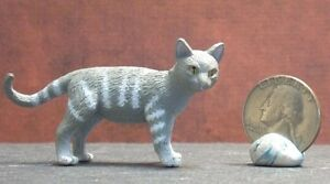 Dollhouse Miniature Pet Cat Tabby Animals 1:12 inch scale G35 I Dollys Gallery