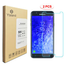 Ytaland 2Pcs 9HTempered Glass Screen Protector For Samsung Galaxy J7 Refine 2018