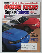 MOTOR TREND CAR MAGAZINE 2000 JULY MUSTANG SUPERCHARGED COBRA