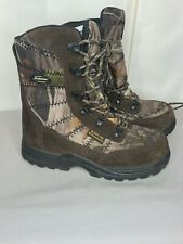 """LaCrosse 8"""" Silencer Scent HD 800g Youth Hunting Camo Boots Sz 6 Waterproof"""