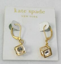 Kate Spade Earrings Chandelier Crystal Drop Earrings Gold plated Linear NEW NWT