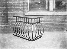 Antique 5x7 Glass Plate Negative SW Pennsylvania Wrought Iron Ornamental Railing