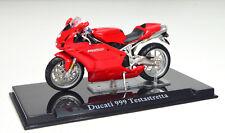 DUCATI 999 TESTASTRETTA Rojo Escala 1:24 modelo de motocicleta de Atlas die-cast