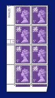 1971 SG W19 5p Reddish Violet (2 Bands) Cyl. Blk. (8) 3 Dot MNH CV £18.50 awbk