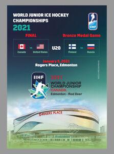 MATCHDAY PROGRAMMES IIHF ICEHOCKEY World Champ JUNIOR 2020 2021 CANADA FAN ed