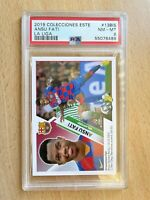 2019 Colecciones Este La Liga Soccer #13BIS Ansu Fati RC Rookie PSA 8 NM-MT