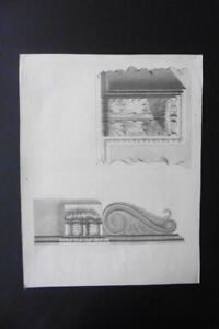 FRENCH NEOCLASSICAL SCHOOL 1817 - STUDY CLASSICAL ARCHITECTURE - INK
