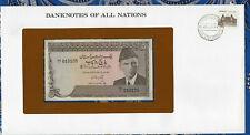 Banknotes of All Nations Pakistan 1984 5 Rupee P38a.1 UNC Prefix VD/1 Kazi