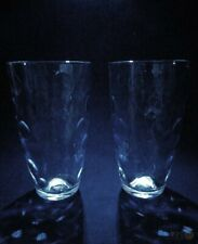2 x Turkish Pasabahce Glass Coin Dot Pattern Tall Glasses | FREE Delivery UK*