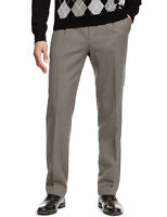 Marks & Spencer Mens Wool Blend Active Waist Trousers New M&S Smart Long Pants