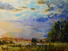 Contemporary Art/ Original Painting by American Artist M.Hee / Landscape