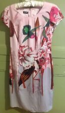 """Gerry Weber Size S 34"""" Bust  Lined Print Dress Birds & Floral Casual Holiday"""