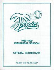1989 1990 WPB TROPICS Vs St. Lucie Legends (Senior League) PROGRAM SCORECARD  NM