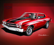 Chevrolet Chevelle SS 1970 art prints and posters by artist Danny Whitfield