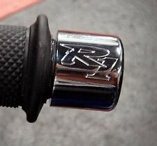 Yamaha R1 Engraved CHROME Bar Ends Sliders YZF-R1