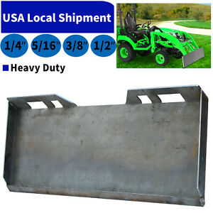 """1/4"""" 5/16"""" 3/8"""" 1/2"""" Skid Steer Loader Mount Plate Quick Tach Attachment Heavy"""