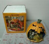 Retired Department 56 Halloween Pumpkin Scene 2006 Lights Up Great Condition