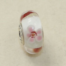 NEW AUTHENTIC PANDORA CHARM MURANO CHERRY BLOSSOMS 790947 W SUEDE POUCH
