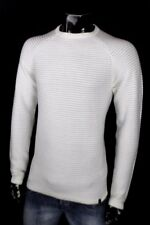 Jack Jones Vintage Sweater Longsleeve Jeans White Cream New Shirt Ribbed Classy ...