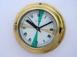 Maritime Brass Slave Clock Vintage Navigation Barigo Germany Ships Boat Nautical