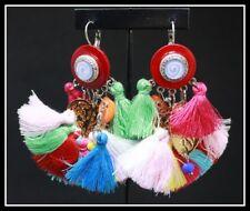 Grandes Boucles d oreilles BIJOUX LOL LOLILOTA PARIS rouge multicolore pompon