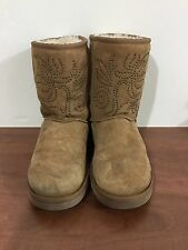 UGG women's size 8 tan boots with studded detail